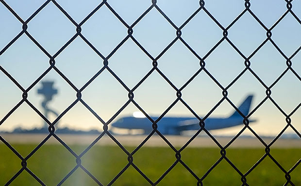 Fence around airport