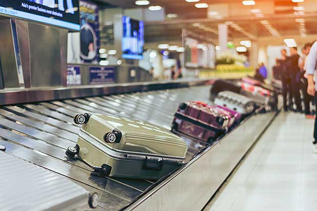 belt at baggage claim area